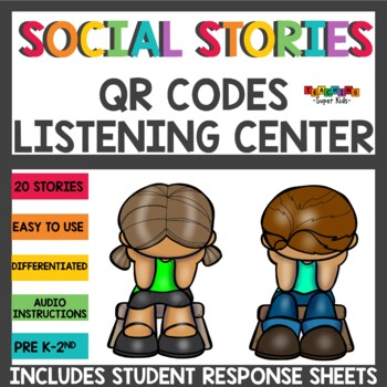 Social and Behavior Issues QR Codes Listening Center Bundle