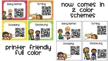 Social and Behavior Issues QR Codes Listening Center