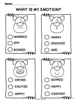 ESL Feelings & Emotions- Flashcards, Worksheets & Activities