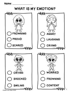 ESL Feelings & Emotions- Task cards & Worksheets- Sample Version