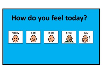 """Feelings board with break cards and """" where is our class"""" bundle"""