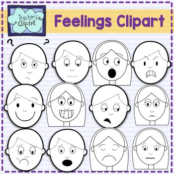 Feelings multicultural faces clipart