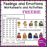 Feelings and Emotions clip cards Activity
