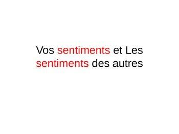Feelings in French