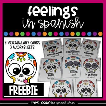 Feelings in Spanish Flashcards - Mis Sentimientos