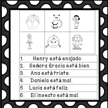 Feelings in Spanish Mini Unit! Teach Feelings in Spanish.