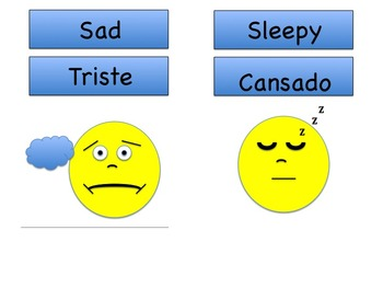 Feelings in Spanish and English. Me Siento/I Feel