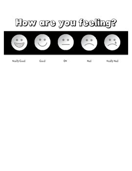 Feelings picture likert scale for elemenary students