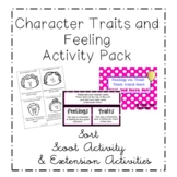 Feelings vs. Character Trait Sort Activity ~ ELA CCSS Center Activity ~