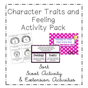 Feelings vs. Character Trait Sort Activity ~ ELA CCSS Center Activity ~