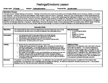 Feelings/Emotions Lesson