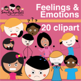 A-C Feelings/Emotions Clipart Set: 109 PNG Images
