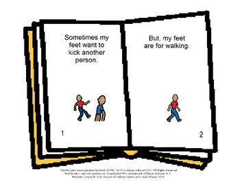 Feet Are For - Social Story Book