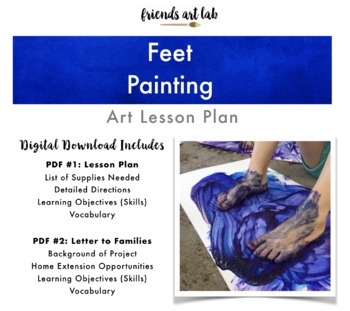 Feet Painting (Sensory, Process Art, Gross Motor, Tactile Stimulation)