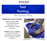 Feet Painting (Sensory, Process Art, Gross Motor, Tactile