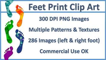 Feet Print Clip Art, Mega Pack - 285 Images