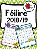 Féilire Acadúil 2018-19 as Gaeilge // Academic Calendar 2018-19 in Irish