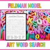 Feldman's Model of Art Criticism Word Search