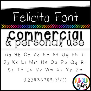 Felicita Font by Kinder Tykes for Personal & Commercial Use