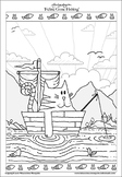 Feline Gone Fishing - Printable Colouring Page.