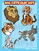 Felines -Big cats clip art set