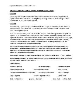 Felipe Alou supplemental readings CI Spanish