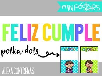 Feliz Cumple {Birthdays Mini Posters and Banner} Polka Dots