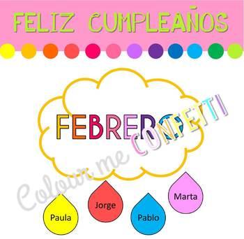 Feliz Cumpleaños Banner y Editables - Colour me Confetti