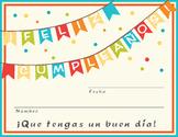 Feliz Cumpleaños Certificado / Happy Birthday certificate