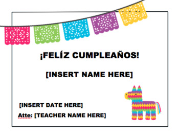 Feliz Cumpleaños Certificate