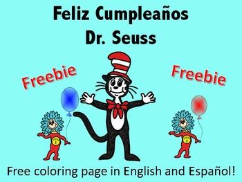 feliz cumpleaos dr seuss - Feliz Cumpleanos Coloring Pages