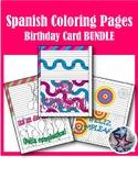 Feliz Cumpleaños/Happy Birthday Cards - Spanish Adult Coloring Page