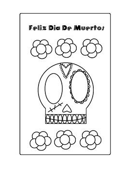 Feliz Dia De Muertos coloring page
