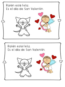 Feliz Dia De San Valentin,Raton Actividades - Valentine's Day in Spanish.