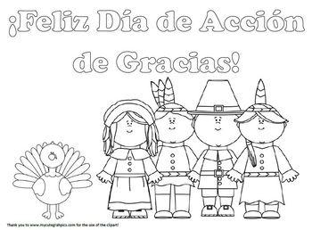 ¡Feliz Día de Acción de Gracias! coloring page