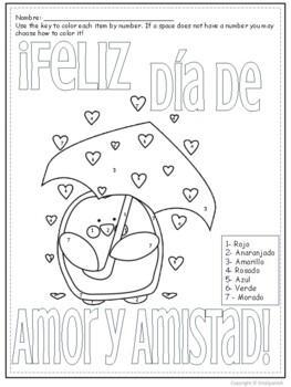 Feliz Día de Amor y Amistad-  Coloring Reviews