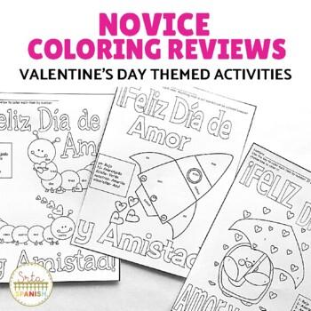 Spanish Valentine's Day Feliz Día de Amor y Amistad Coloring Reviews