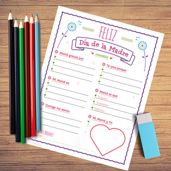 Feliz Día de la Madre Checklist Card