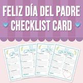 Feliz Día del Padre Checklist Card