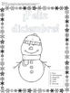 Feliz Diciembre- Spanish color by number