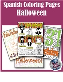 Feliz Halloween - Fall Spanish Adult Coloring Pages BUNDLE