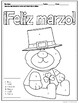 Spanish Color by Number Feliz Marzo