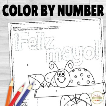 Feliz Mayo- Spanish Color by Number