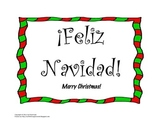 Feliz Navidad Christmas Bulletin Board in Spanish for your