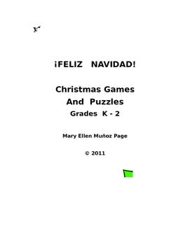 Feliz Navidad  Grades K - 2 activities