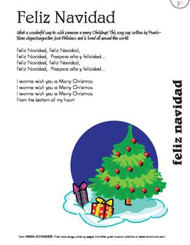 Feliz Navidad Lyric Sheet