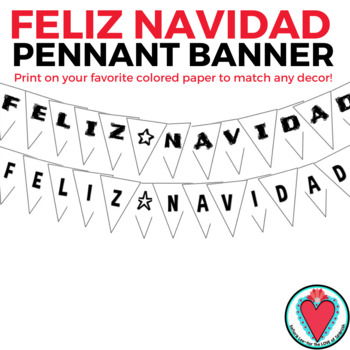 Feliz Navidad Pennant Banner