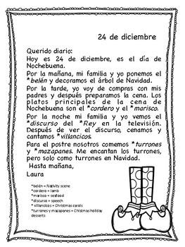 Spanish Christmas activities. Feliz Navidad.