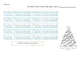 Feliz Navidad worksheet (tracing words in Spanish). K, 1st