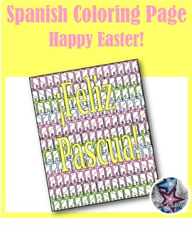 Feliz Pascua - Spanish Easter Adult Coloring Page